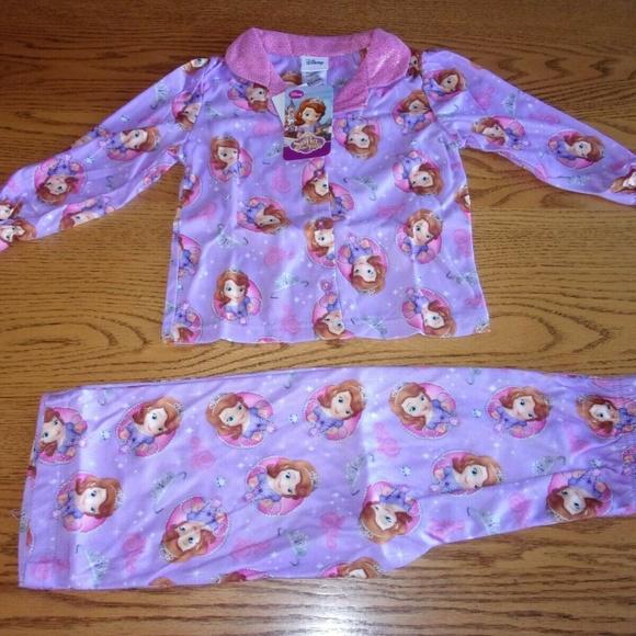 DISNEYS Toddler Frozen Sofia 2 piece Pajama PJ Set Sleepwear  Purple  Sz 3t